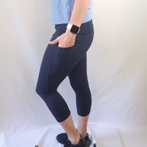 RBX Blue Navy Capri with Pockets